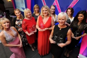 Leicester Mercury Women in Business Awards. Business Woman of the Year award winner Laura Cook.